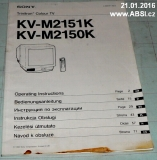 TRINITRON COLOR TV KV-M2151K, KV-M2150K SONY -MANUAL