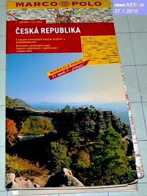 ČESKÁ REPUBLIKA - ROZKLÁDACÍ PŘEHLEDNÁ MAPA, TABULKA VZDÁLENOSTÍ, REJSTŘÍK OBCÍ