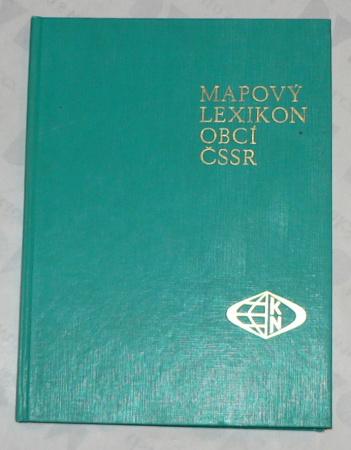 MAPOVÝ LEXIKON ČSSR 1:200 000 PODLE SPRÁVN´HO ROZDĚLENÍ 1. ÚNORA 1967