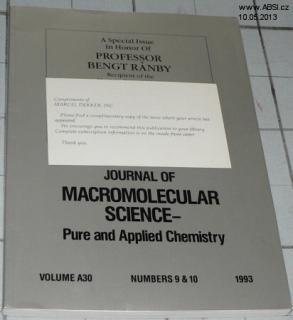JOUNAL OF MACROMOLECULAR SCIENCE - PURE AND APPLIED CHEMISTRY - NUMBERS 9 & 10