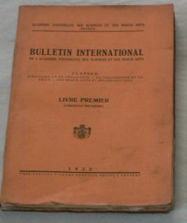 BULLETIN INTERNATIONAL 1933